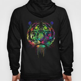 Color art Tiger Hoody
