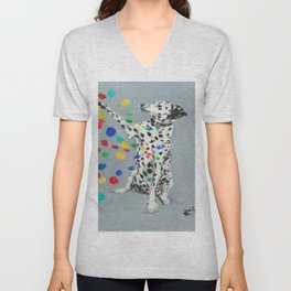 Dalmatian Unisex V-Neck
