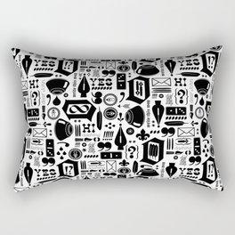 Write This Way Pattern Rectangular Pillow