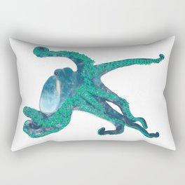 Tropical Flower Octopus Rectangular Pillow