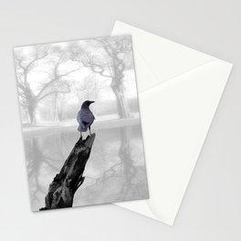 Crow On Misty Pond A114 Stationery Cards