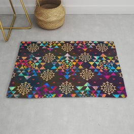 Sri Yantra  pattern - color and gold #1 Rug