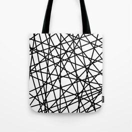 Lazer Dance Black on White Tote Bag