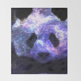 Galaxy Panda Space Colorful Throw Blanket