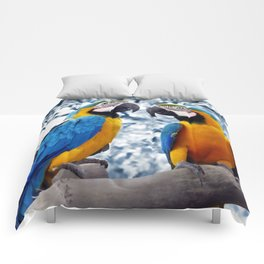 Macaws chatting Comforters