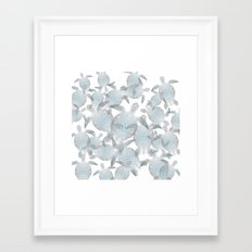 Silver Turtles Pattern Framed Art Print