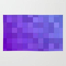 Blue purple square mosaic Rug