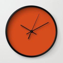 Solid Retro Orange Wall Clock