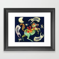 Night Horse Framed Art Print