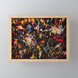 French Abstract Expressionism Painting Framed Mini Art Print