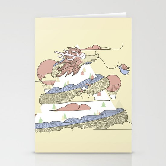 Dragon ride Stationery Cards
