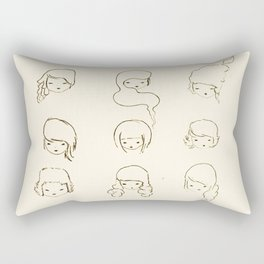 today's face Rectangular Pillow