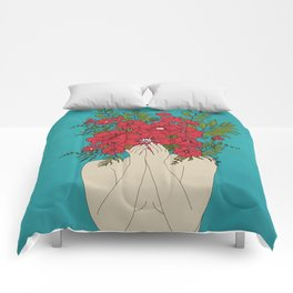 Blooming Red Comforters