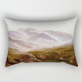 Caspar David Friedrich Memories of the Riesengebirge Rectangular Pillow