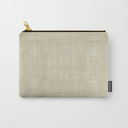 """Nude Burlap Texture"" Carry-All Pouch"
