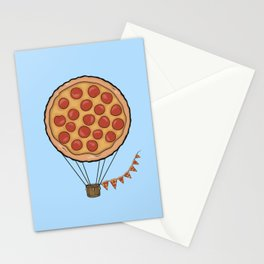 Pizza Hot Air Balloon Stationery Cards