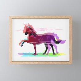 Powerful Horse Framed Mini Art Print