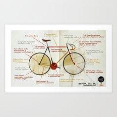 Bike benefit (ITA) Art Print
