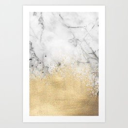 Gold Dust on Marble Art Print