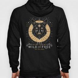 Wild & Free Wolf – Gold & Grey Hoody