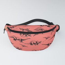 Dinosaurs on Coral Background Fanny Pack