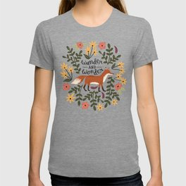 Fox and Florals - Wander and Wonder T-shirt