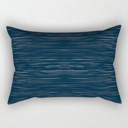 Meteor Stripes - Dark Denim Rectangular Pillow
