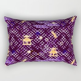 Golden Shibori (Purple) Rectangular Pillow
