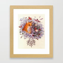 Fox spirit Framed Art Print