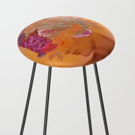 Woman in flowers III Counter Stool