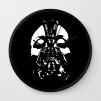 bane Wall Clocks featuring Bane Doe by kmbutcher