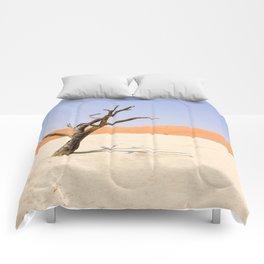Lone Tree Deadvlei Namibia Comforters