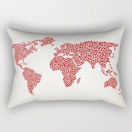Love, You Are My World Rectangular Pillow