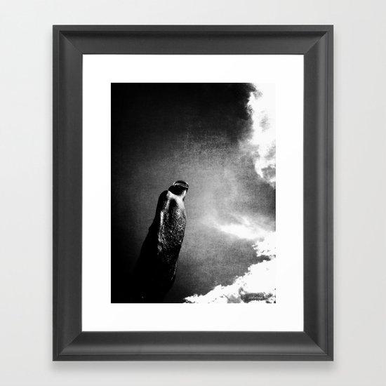 Begging for the rain Framed Art Print