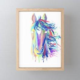 Splash horse gift equestrian riding stallion Framed Mini Art Print