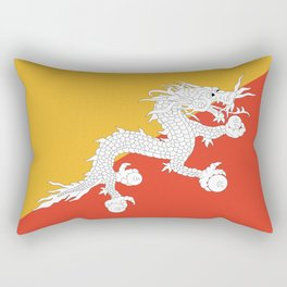 Flag of bhutan-,Bhutan, Himalaya, South Asia,Bhutanese, bhoutan, bhoutanais, dragon Rectangular Pillow