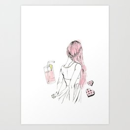 Pink Lemonade Days Art Print
