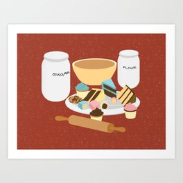 Now, Let's Taste! - Autumn Art Print
