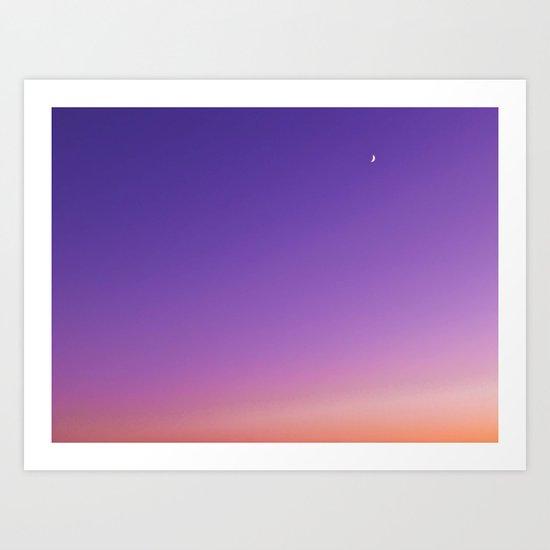 Sunset Moon Art Print