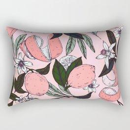 Flowering in the pink oranges Rectangular Pillow