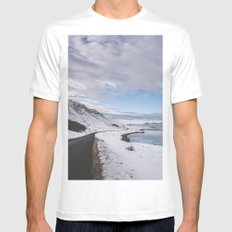 The long and winding road MEDIUM White Mens Fitted Tee