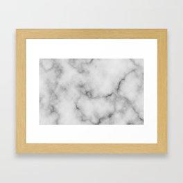 White Marble Pattern Framed Art Print