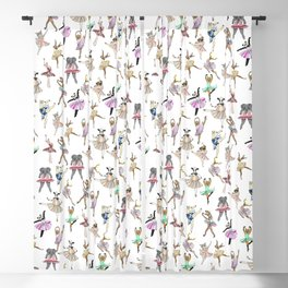 Animal Square Dance Blackout Curtain