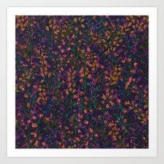 purple fleur Art Print