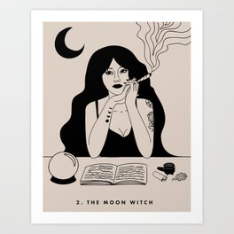 2. THE MOON WITCH (THE HIGH PRIESTESS) Art Print