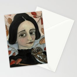 """Fall of the Dead Leaves"", Four Seasons Portait Stationery Cards"
