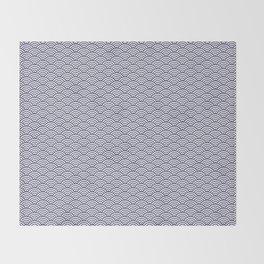 Japanese Koinobori fish scale Delft Blue Throw Blanket