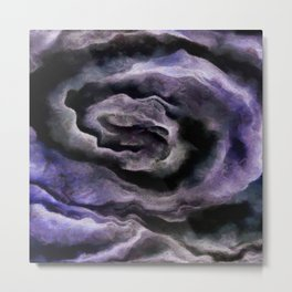 After A Storm In Inkwell Blue and Ultimate Gray Abstract Art Metal Print