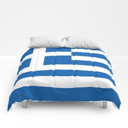 Flag of Greece, High Quality image Comforters