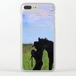 Always That One Horse Clear iPhone Case